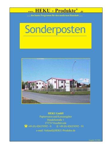 Sonderposten 8 - HEKU GmbH Papierwaren und Konsumgüter