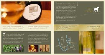 Aktuelle Weinliste - Weissen Lamm