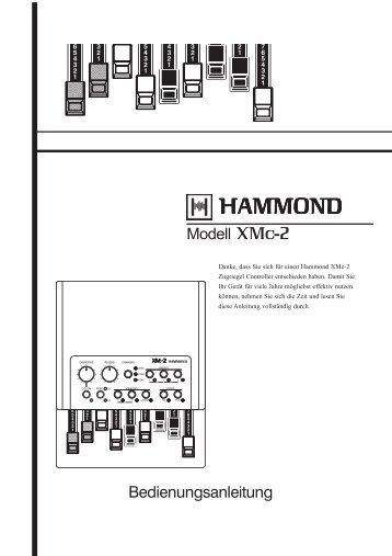 Bedienungsanleitung XMc-2 - Hammond.de