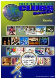 semester 1 elementary school activities - Cebu International School