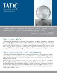 General Brochure - International Association of Defense Counsel