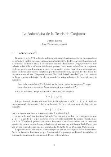 La Axiomática de la Teoría de Conjuntos