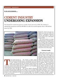 Cement Industry undergoIng expansIon