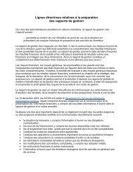 Lignes directrices relatives à la préparation des rapports ... - Deloitte