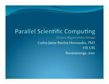 Carlos Jaime Barrios Hernandez, PhD VIE UIS Bucaramanga, 2010