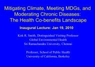 Mitigating Climate, Meeting MDGs, and Moderating Chronic ...