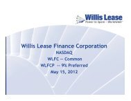JMP Investor Conference Presentation - Willis Lease Finance ...