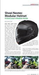 BMW Owners News magazine review of the all-new SHOEI Neotec ...