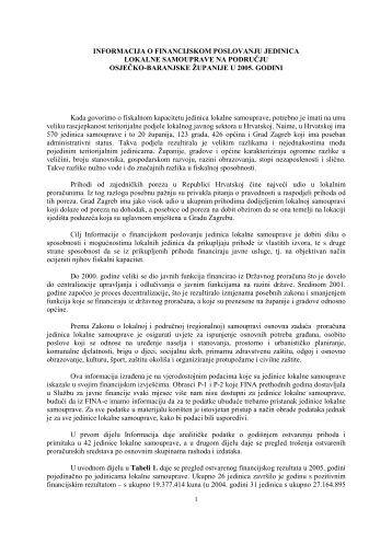 2005. - Osječko baranjska županija
