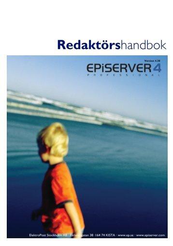 Redaktörshandbok EPiServer 4