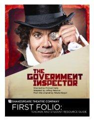 Folio Government Inspector.pub - The Shakespeare Theatre Company