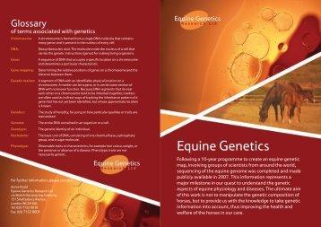 Equine Genetics - British Horseracing Authority
