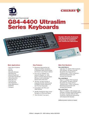 EDNord - Cherry G84-4400 KeyBoards/Tastatur Specifikationer