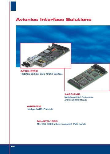 Avionics Interface Solutions - INSTRUMENTATION DEVICES