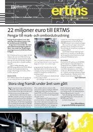 22 miljoner euro till ERTMS - Trafikverket