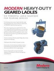 Heavy-Duty Geared Ladles - Modern Equipment