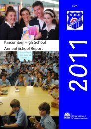 Annual School Review - Kincumber High School