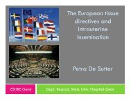 The European tissue directive and intrauterine insemination - eshre