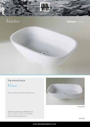 Vivace VIV002 Vanities - Boutique Baths