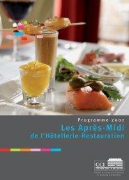 Bulletin d'inscription aux Après-Midis de l'Hotellerie-Restauration