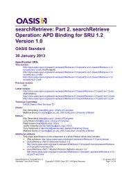 searchRetrieve - docs oasis open - Oasis