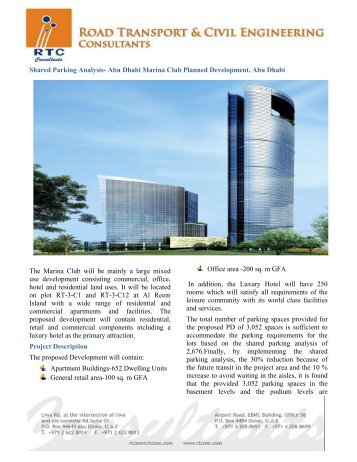 Shared Parking Analysis- Abu Dhabi Marina Club Planned ... - RTC