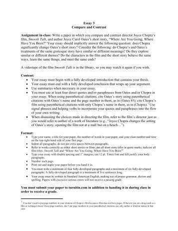 sample compare contrast essay non committer essay 3 compare and contrast assignment in class gordon state