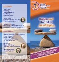 Seminar Friedensstifter werden - Stiftung Therapeutische Seelsorge