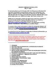 SISKIND'S IMMIGRATION BULLETIN May 17 ... - Siskind, Susser