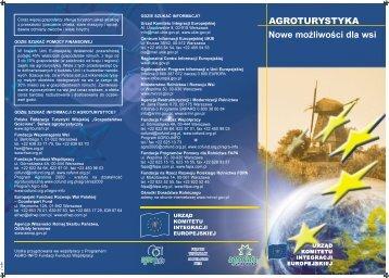 AGROTURYSTYKA: Nowe możliwości dla wsi - Polska w UE
