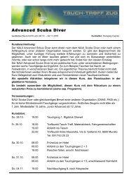 Advanced Scuba Diver - Tauch-Treff