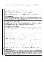 Seznam otázek ke zkoušce z geometrie I