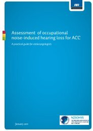 Assessment of occupational noise-induced hearing loss for ACC