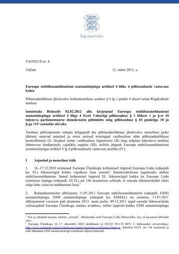 1ESM asutamislepingu p6hiseadusele vastavus.pdf - Riigikogu