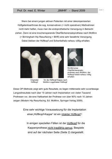 Hüftkopfteilersatz - Klinikum Friedrichshafen GmbH