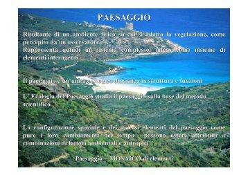 PAESAGGIO - Sdasr.unict.it