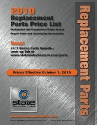 Replacement Parts Price List - State Industries
