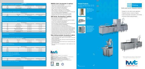 Bottle Wash and Fill - Tecniplast