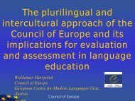 The plurilingual and intercultural approach of the Council of ... - ALTE