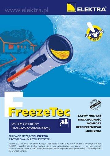 Przewody Grzejne FreezeTec Ulotka - SystemyGrzejne.pl