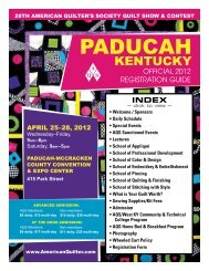 Official 2012 Registration Guide • AQS Quilt Show & Contest ...