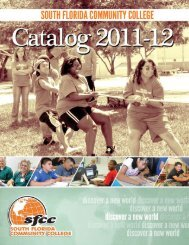 2011-12 College Catalog - South Florida State College