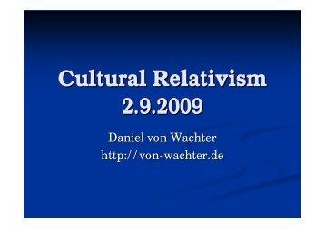 2. Relativism - Daniel von Wachter