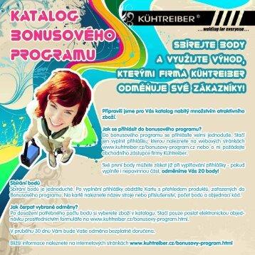 Katalog bonusového programu Kühtreiber