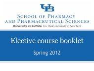 Elective_booklet_Spr.. - University at Buffalo School of Pharmacy ...
