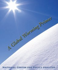 Global Warming Primer - National Center for Policy Analysis