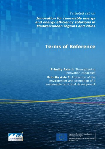 Terms of Reference - Programme Med