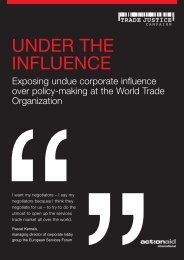 UNDER THE INFLUENCE - ActionAid