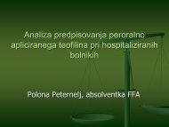 Analiza uporabe teofilina pri hospitaliziranih bolnikih