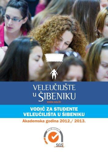 VODIČ ZA STUDENTE VELEUČILIŠTA U ŠIBENIKU - veleučilište u ...